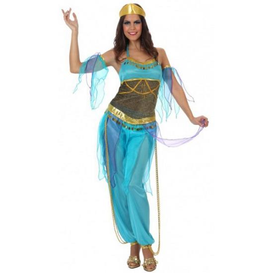 1000 en een nacht kostuum dames blauw