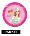 Kinderfeestje Barbie thema feestartikelen pakket