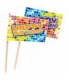 Kinderverjaardag prikkers Happy Birthday