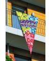 Grote vlaggen Happy Birthday 150 cm