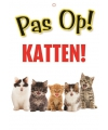Waakbord pas op Katten 21 x 15 cm
