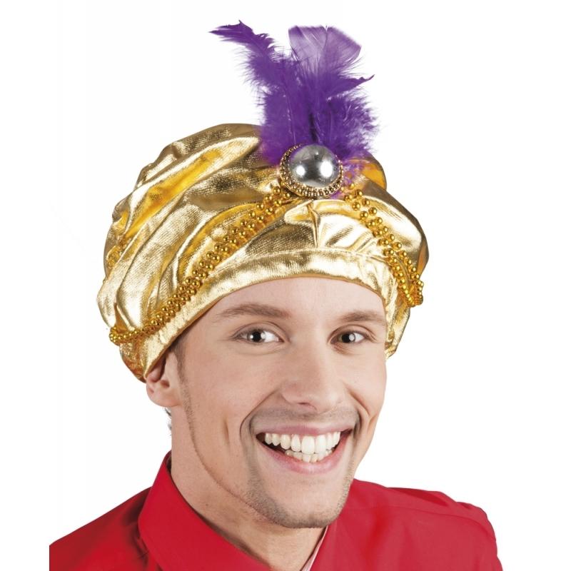 1001 nacht gouden Sultan hoed