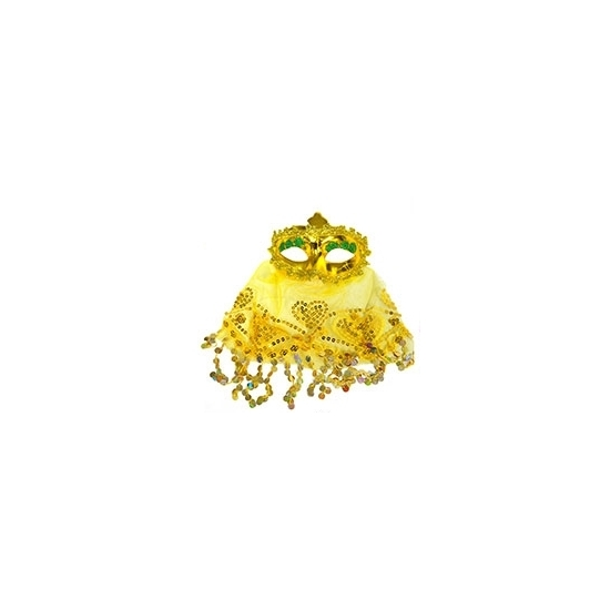 Arabisch oogmasker geel