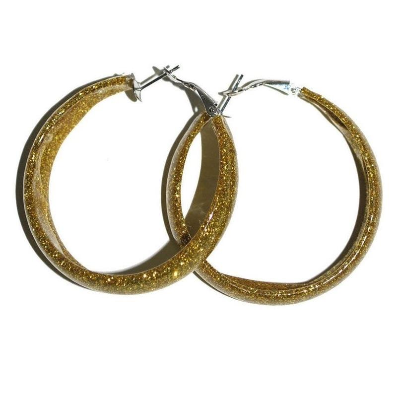 Disco accessoires oorbellen goud