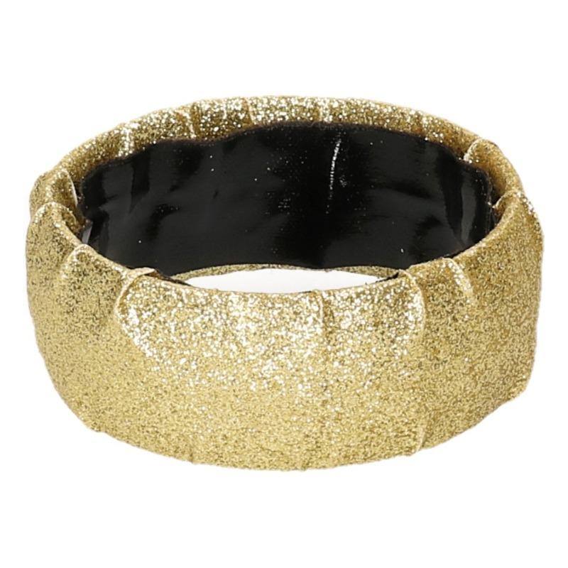 Gouden armbanden met glitters