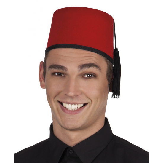 Klassieke Fez hoed 13 cm hoog