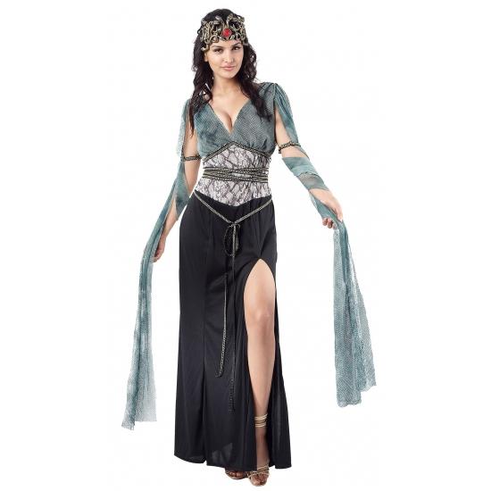 Medusa/heksen verkleedjurk voor dames