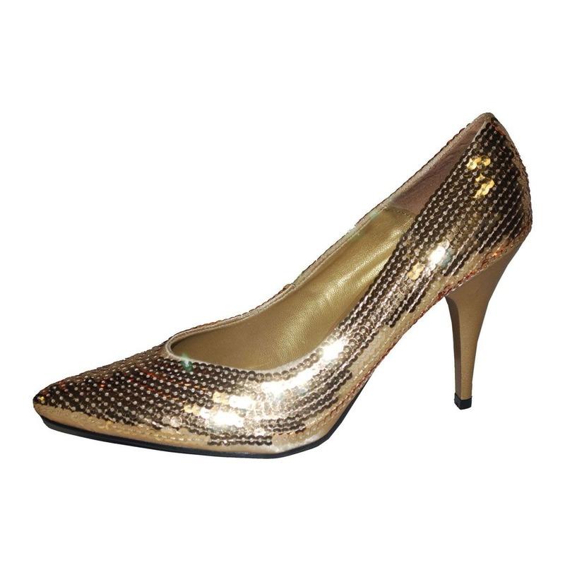 Schoenen gouden pailletten