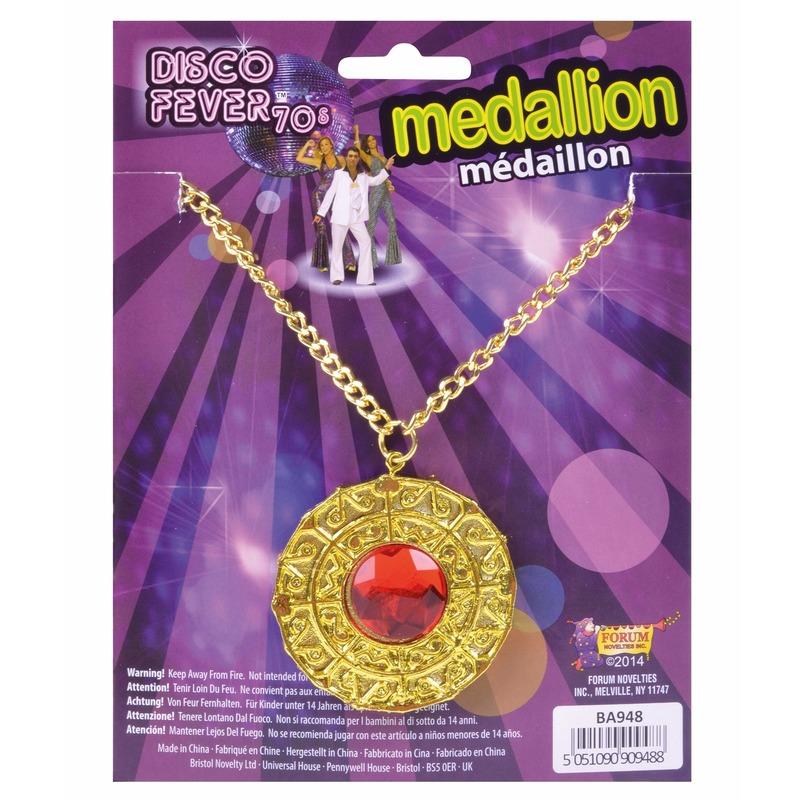 Sjeik medaillon met rode steen
