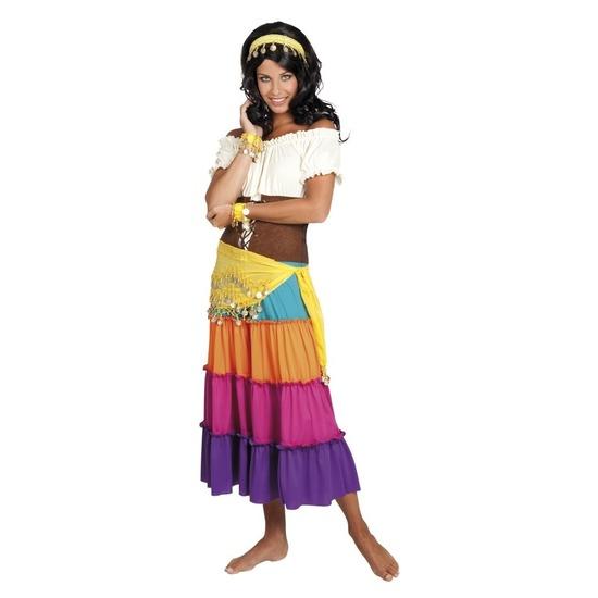 Verkleed set Harem danseres geel